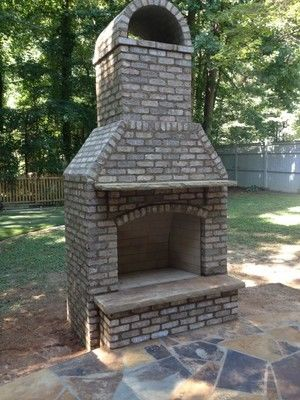 Custom outdoor Fireplace GA