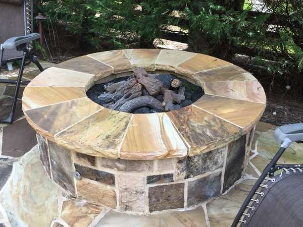 Fire Pit with Gas Logs in Sandy Springs GA (1)