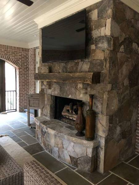 TN Fieldstone Fireplace in Suwanee, GA (1)