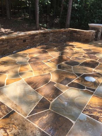 Crab orchard flagstone pool deck Johns Creek, GA