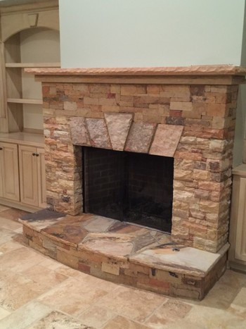Natural Stone Fireplace in Duluth, GA