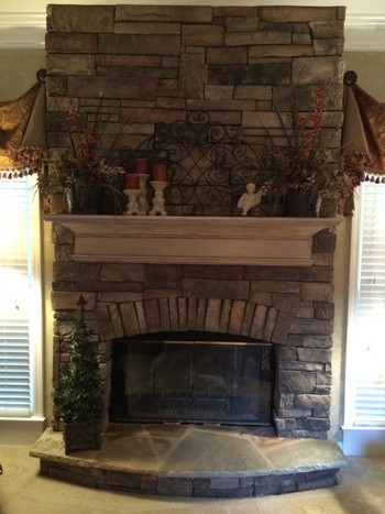 Synthetic Stone Fireplace in Alpharetta, GA