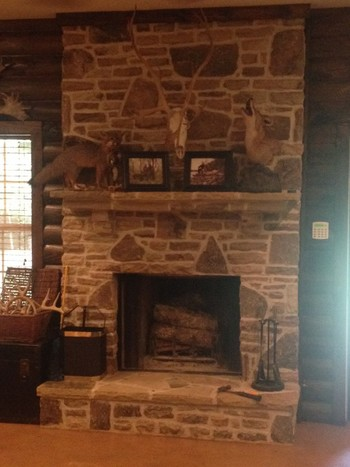 Stone Fireplace in Athens, GA