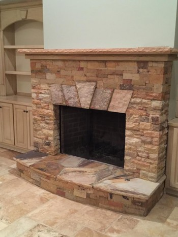 Stone Fireplace in Duluth, GA