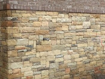Stone and Brick Wall in Canton, GA