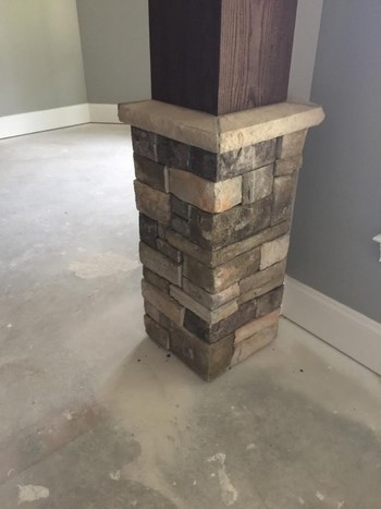 Bucks County Country Ledgestone Bar Wall & Column in Buford, GA