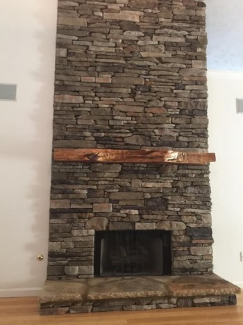 Bucks County Southern Ledgestone Fireplace in Suwanee, GA