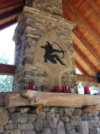 Lodge Fireplace in Madison County, GA