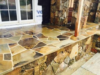 Flagstone patio and steps Alpharetta, GA