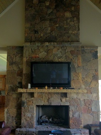 Beautiful indoor and outdoor stone and brick work