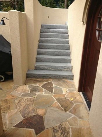 Flagstone Patio and Granite Steps in Atlanta, GA
