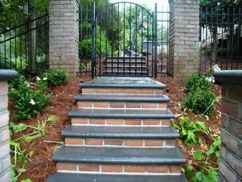Brick Risers with Bluestone Treads in Duluth, GA