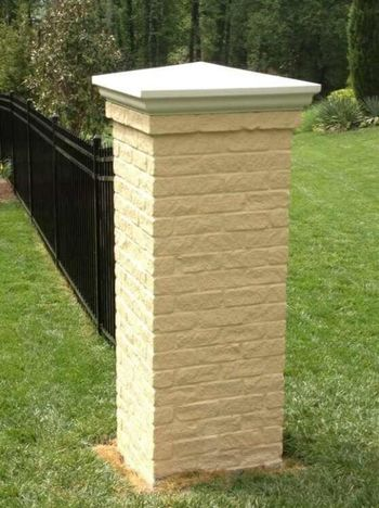 Brick Column with Cast Stone Cap in Sandy Springs, GA