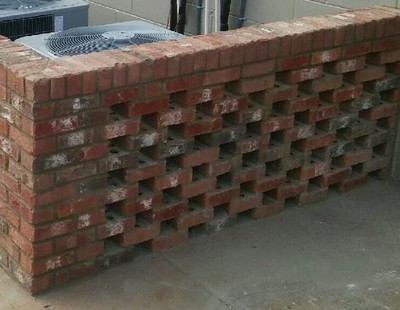 Brick Lattice Wall in Cumming, GA