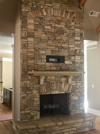 TN Fieldstone Fireplace in Flowery Branch GA