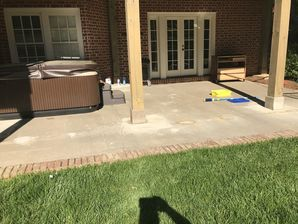 Before & After Patio Makeover: Natural Cleft Bluestone Flooring & Thermal Bluestone Border in Atlanta GA (1)