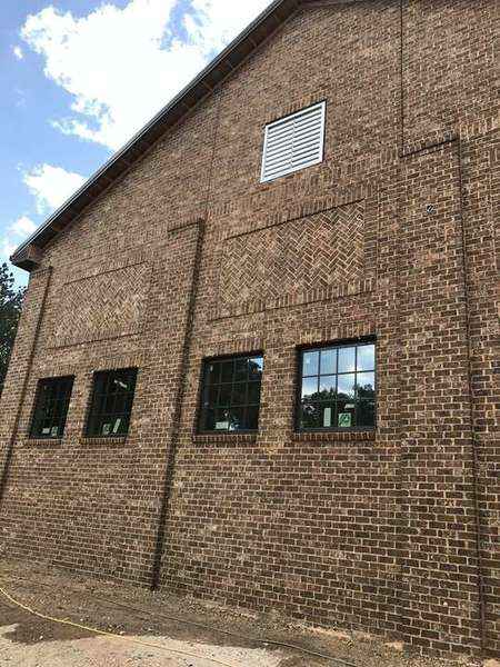 Brick Storage Facility with Tumbled Pinehurst Brick & Flush Cut Ivory Buff Mortar, Atlanta GA (1)