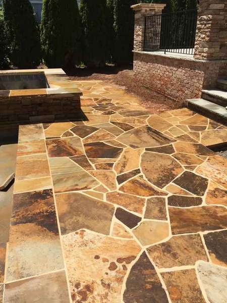 Pool Deck with Crab Orchard Flagstone in Roswell, GA (1)
