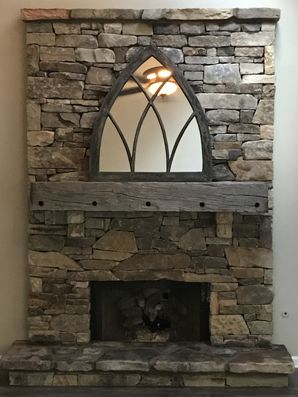 Rustic Fieldstone Fireplace in Lawrenceville, GA (1)