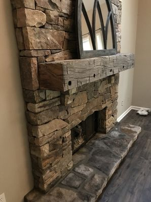 Rustic Fieldstone Fireplace in Lawrenceville, GA (2)