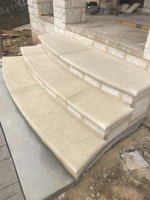 Texas Cream Limestone Steps in Duluth, GA (2)