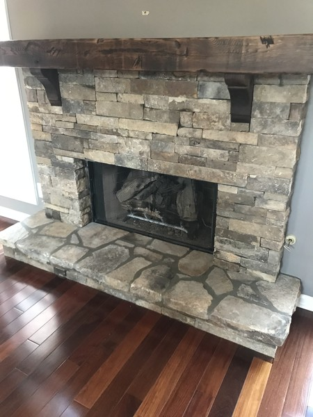 Dry Stacked TN Fieldstone Fireplace in  Suwanee, GA (1)