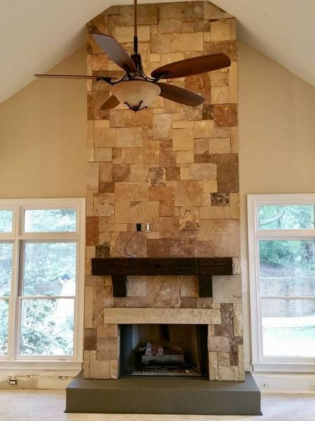 Quarry Ashlar fireplace in Duluth, GA (1)