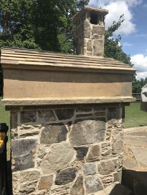 Stone Pizza Oven with Stone Roof Tiles in Cumming, Ga (2)