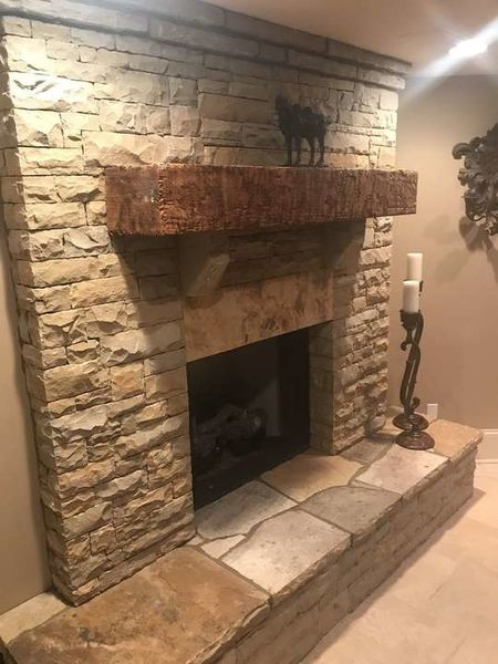 Sugarhill Rubble Dry Stacked Fire Place in John's Creek, Ga (1)