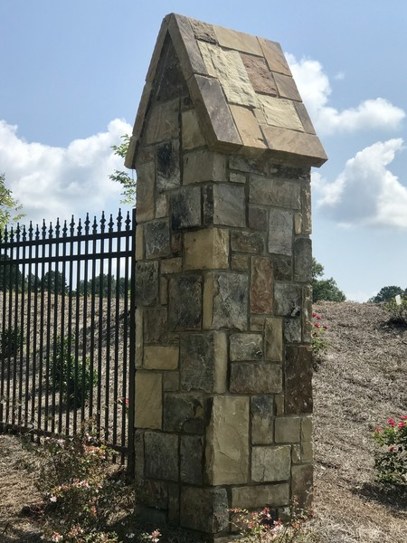 Fieldstone Ashlar Column in Braselton, GA (1)