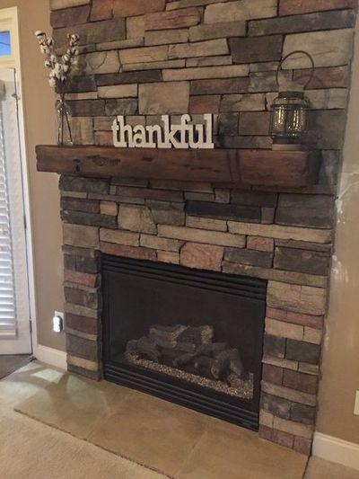 Country Ledgestone and Distressed Mantle in Flowery Branch, GA (1)