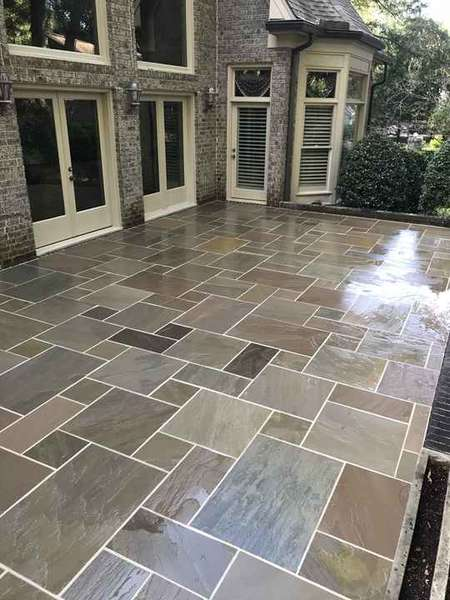 Sunset Sandstone 4 piece on Exterior Patio installation in Duluth, GA (1)