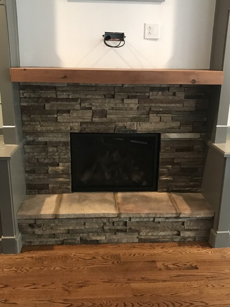 Country Ledgestone Bucks County Fireplace Suwanee, GA (1)