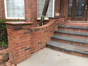 Thermal Bluestone an Wing Walls for New Steps in Johns Creek, GA (2)