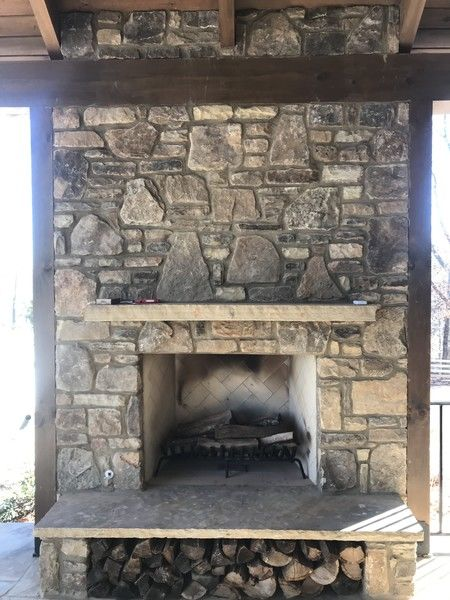 Outdoor Stone Fireplace in Alpharetta,GA (1)