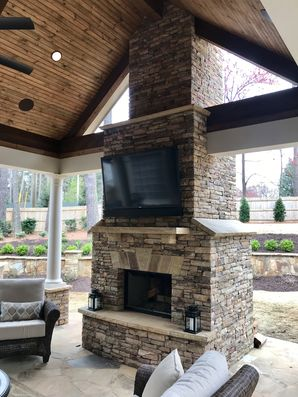Outdoor Stone Fireplace Alpharetta, GA (1)