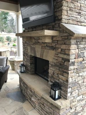 Outdoor Stone Fireplace Alpharetta, GA (3)