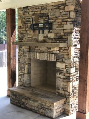 Outdoor Fireplace in Loganville, GA (1)