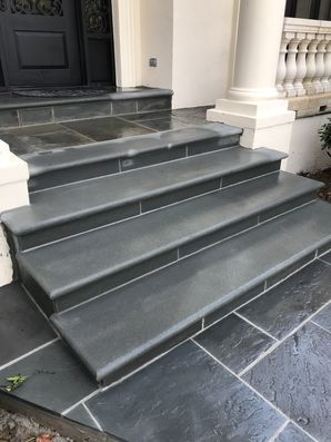 Thermal Bluestone Walkway & Step Installation in Braselton, GA (1)