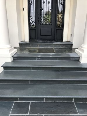 Thermal Bluestone Walkway & Step Installation in Braselton, GA (2)
