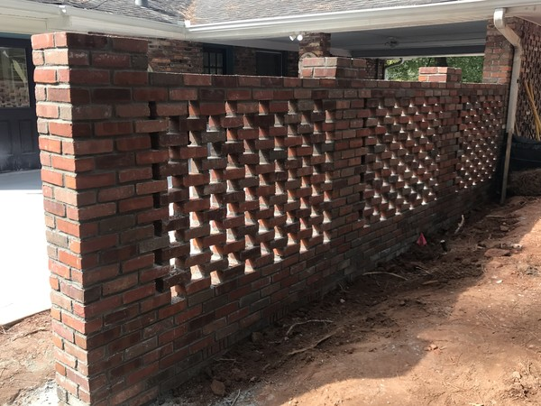 Lattice Brick Wall in Atlanta, GA (1)